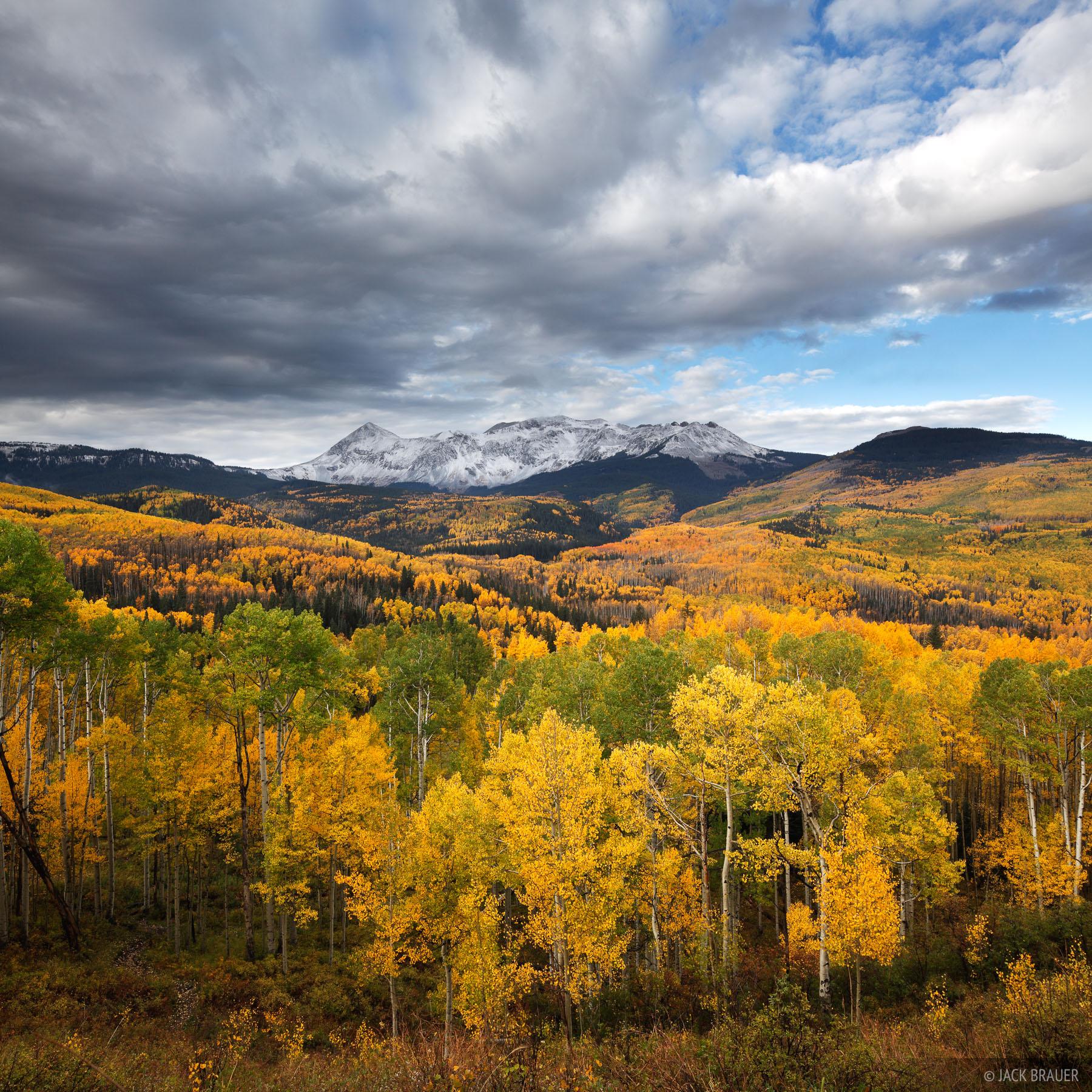 Dolores Peak, aspens, autumn, Telluride, San Juan Mountains, Colorado, photo