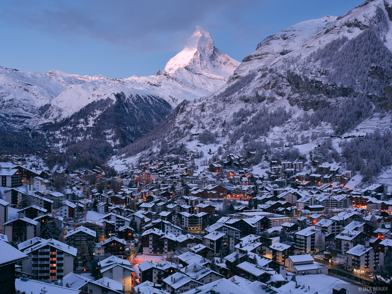Zermatt, Switzerland, Matterhorn, snowy, Pennine, Alps, photo