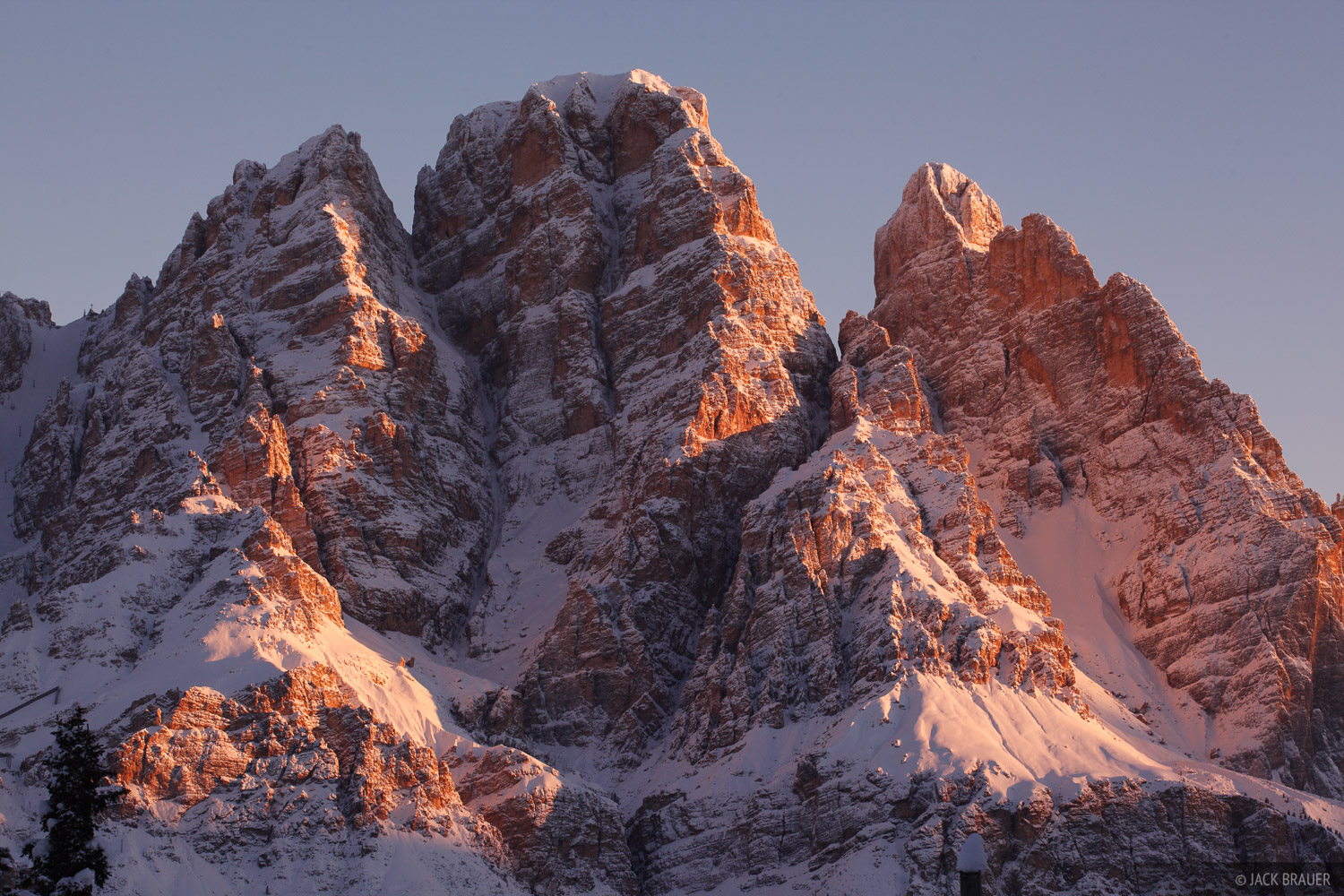 Cristallo, sunrise, Cortina, Dolomites, Italy, Alps, photo