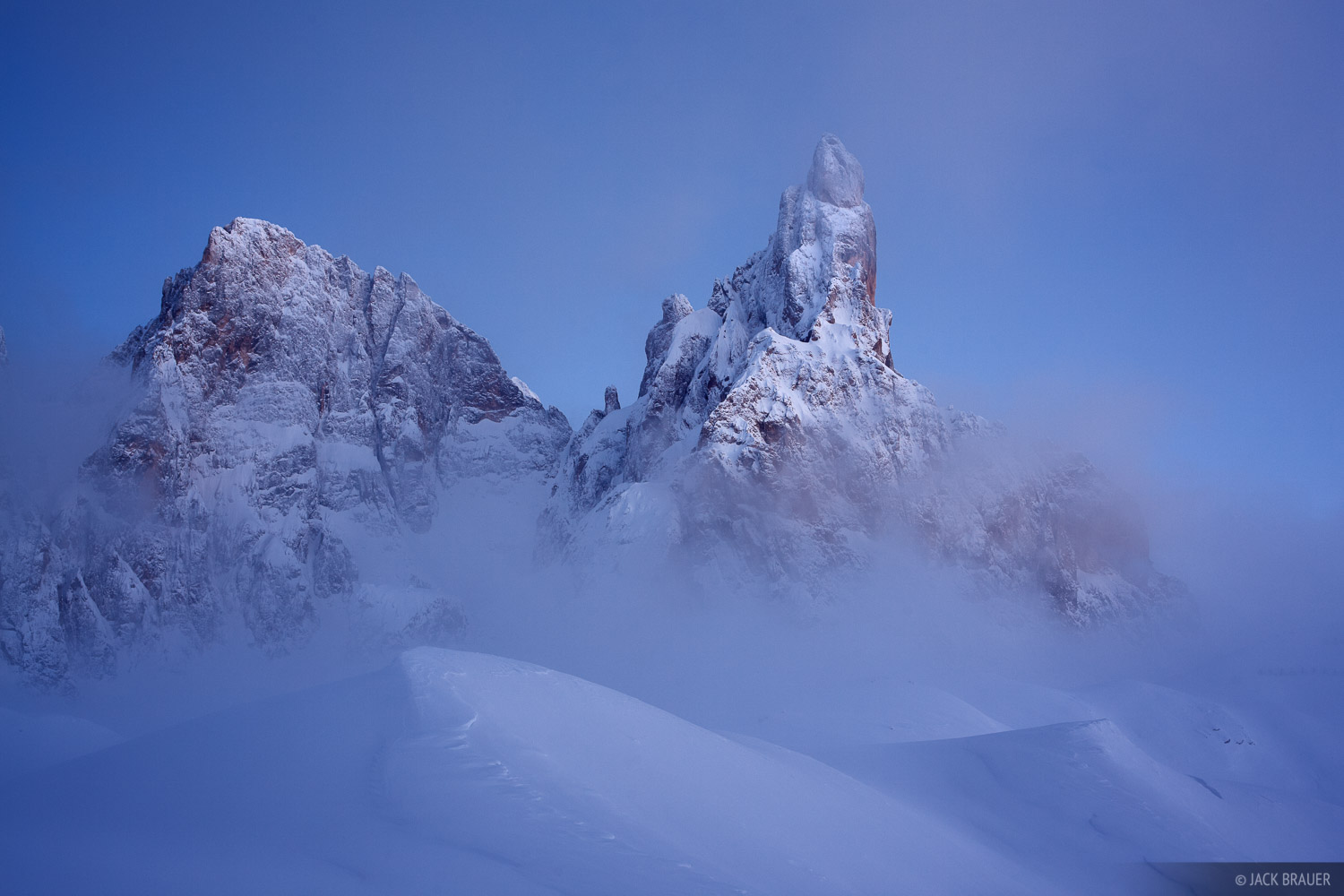 Cimon della Pala, Dolomites, Italy, winter, Alps, photo