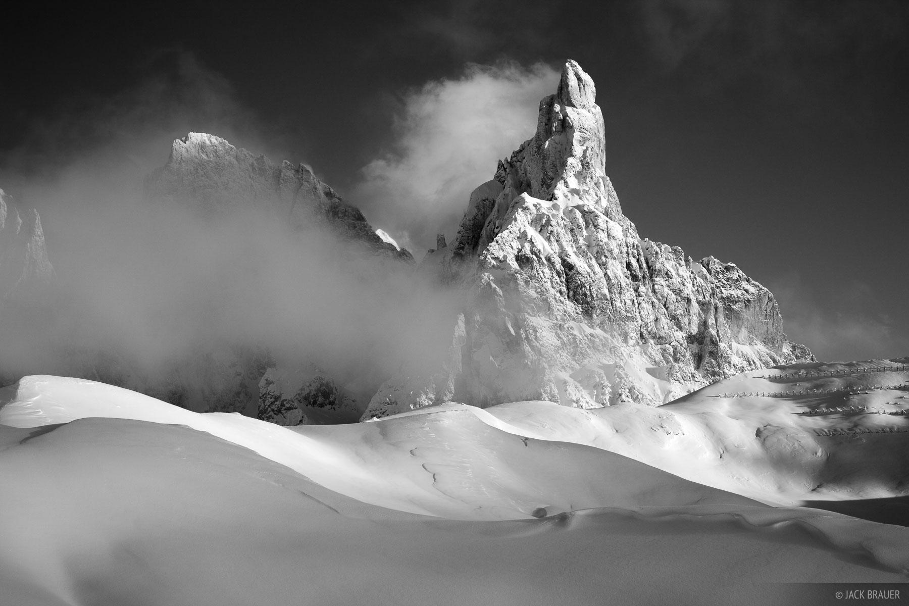 Cimon della Pala, snowy, Dolomites, Italy, December, photo