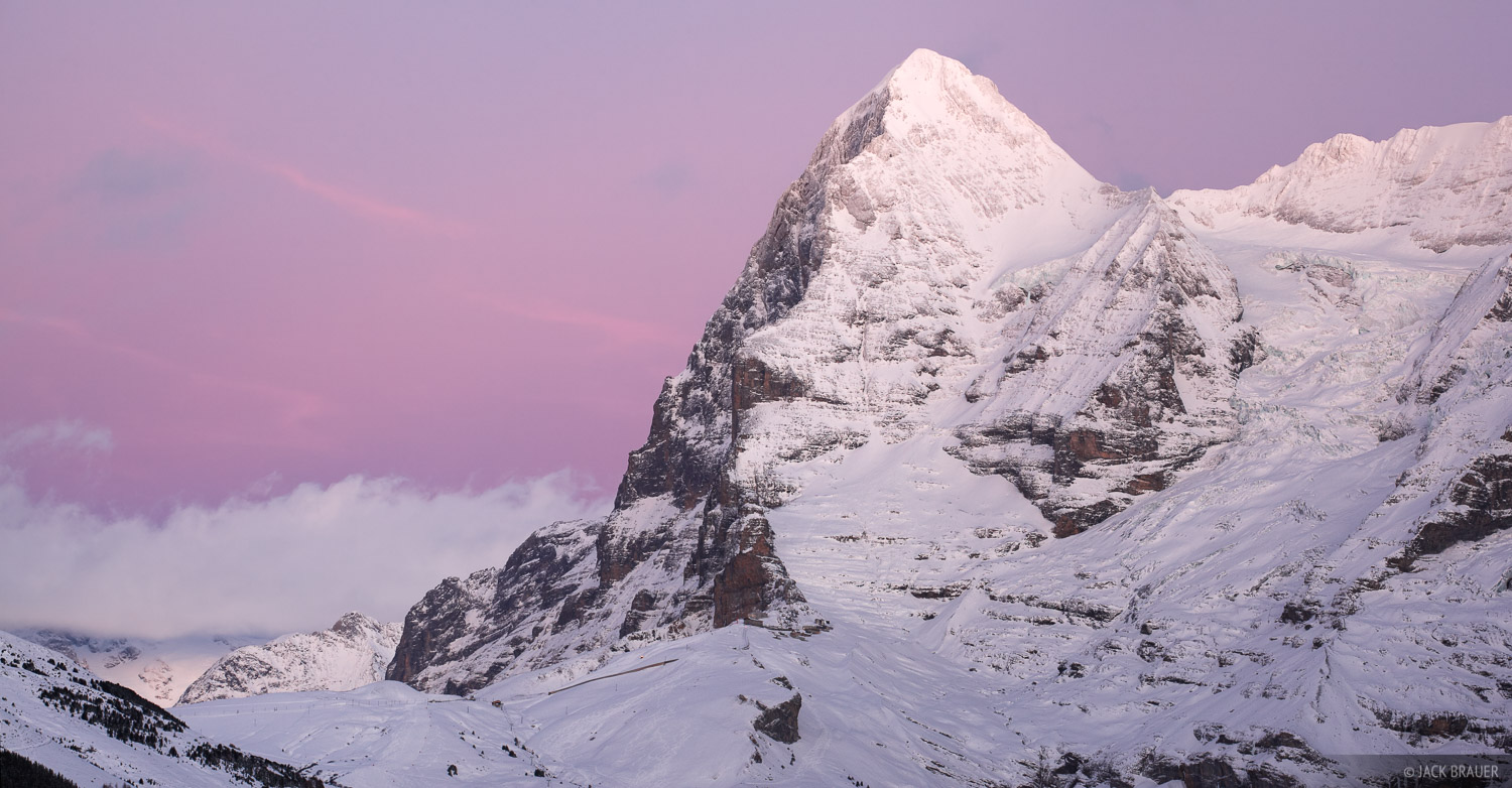 Eiger, sunset, M, photo