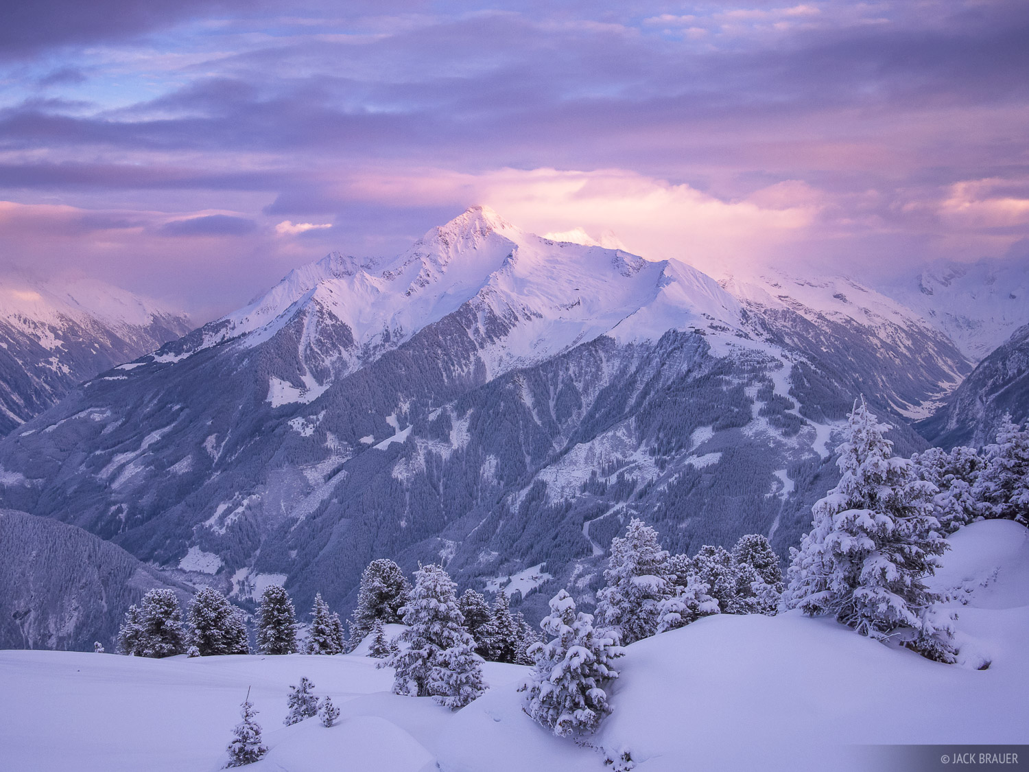 Ahornspitze, Mayrhofen, Austria, sunset, Zillertal, photo