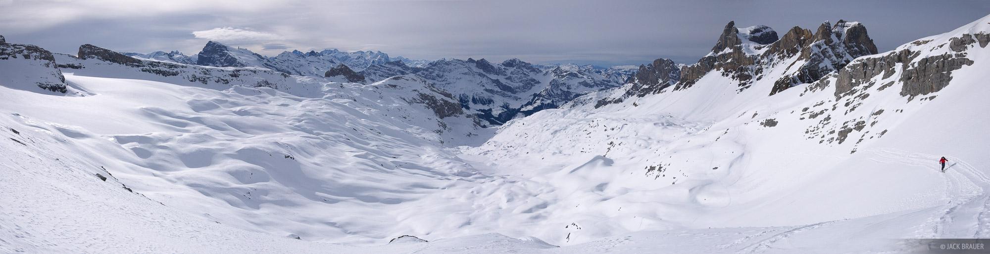 Griessental, panorama, Engelberg, Switzerland, glacier, Ruchstock, photo