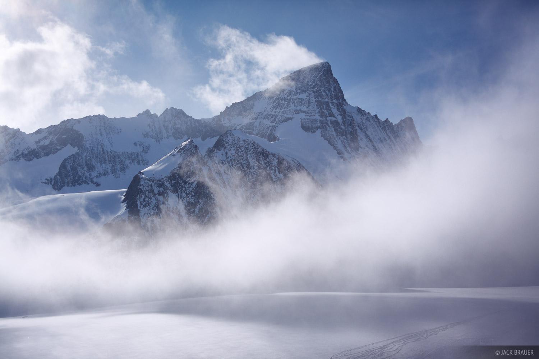 Grünhorn,  Walliser Fiescherfirn, glacier, Berner Oberland, Switzerland, photo