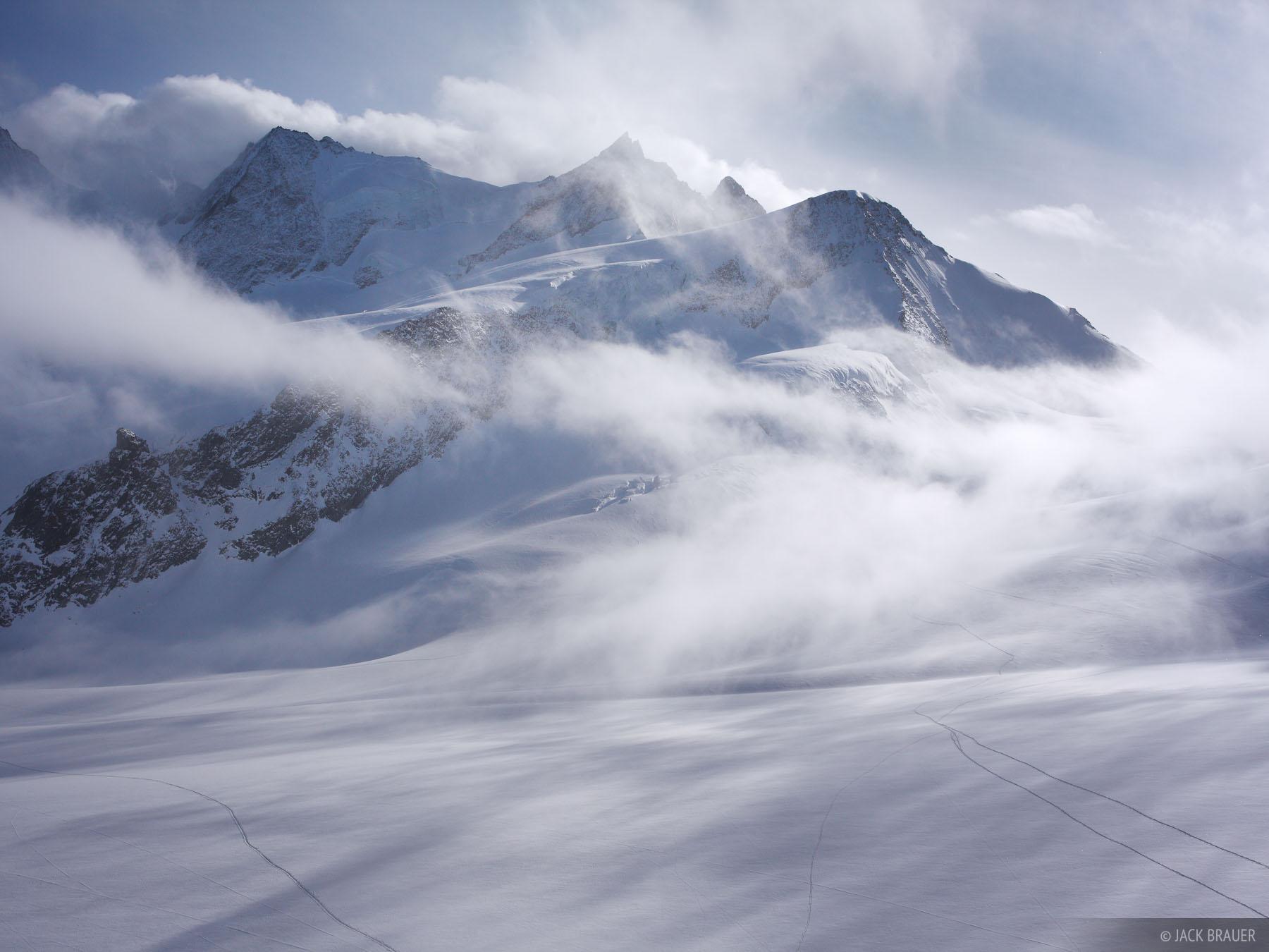 Wyssnollen, Bernese Oberland, Switzerland, clouds, glacier, photo