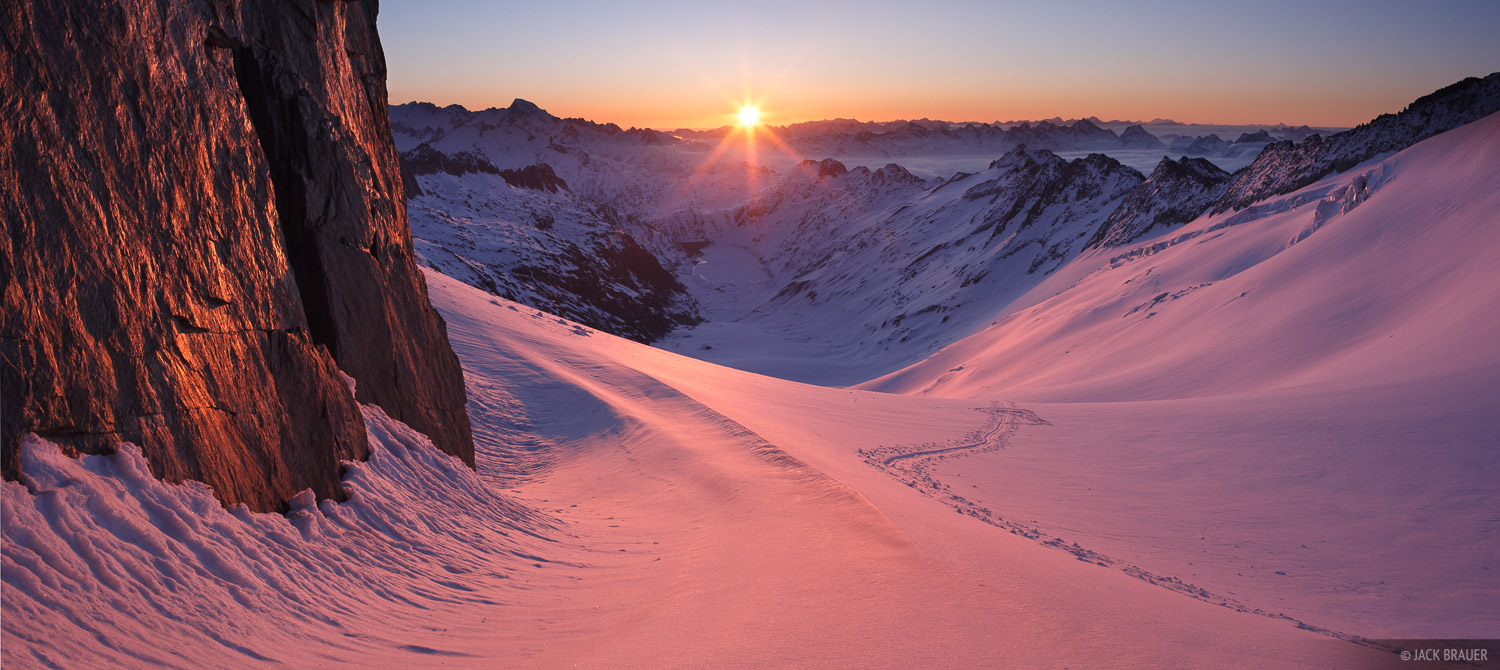Oberaarjoch, sunrise, Bernese Oberland, Switzerland, photo