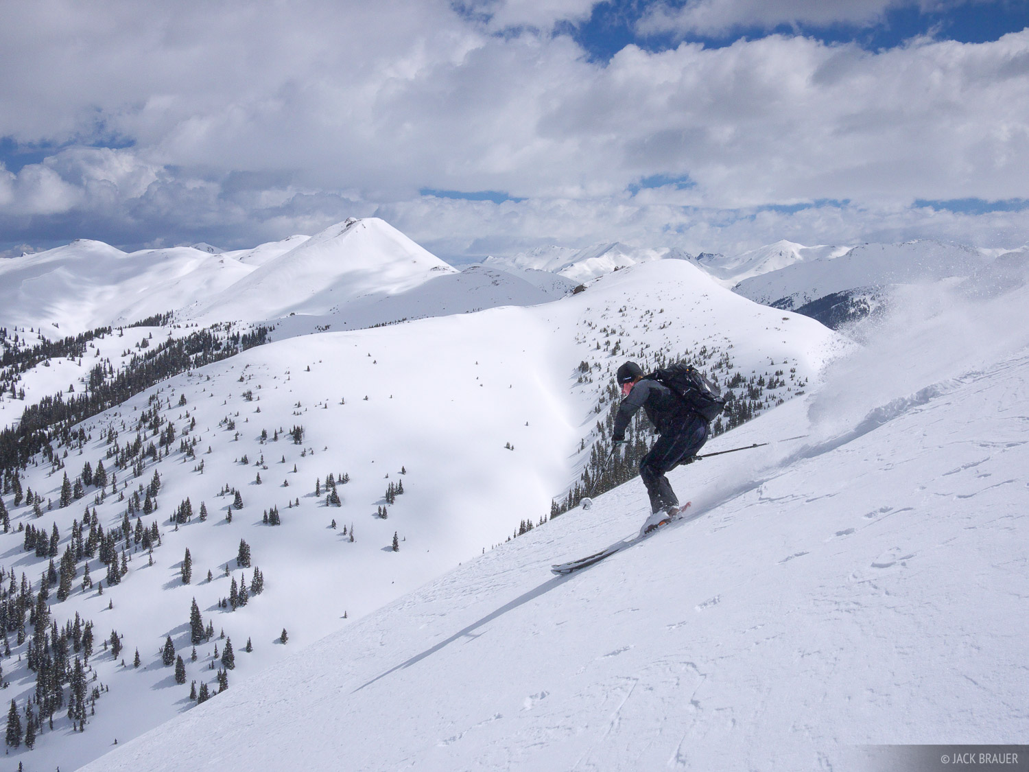 Paul McElrea skis some perfect cream cheese powder - May.