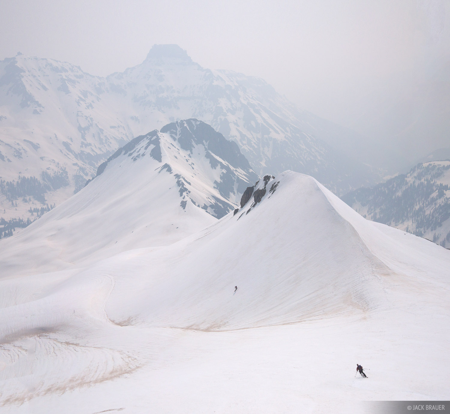 Skiing in June, with the San Juans choked with smoke from a huge wildfire in the White Mountains of eastern Arizona.