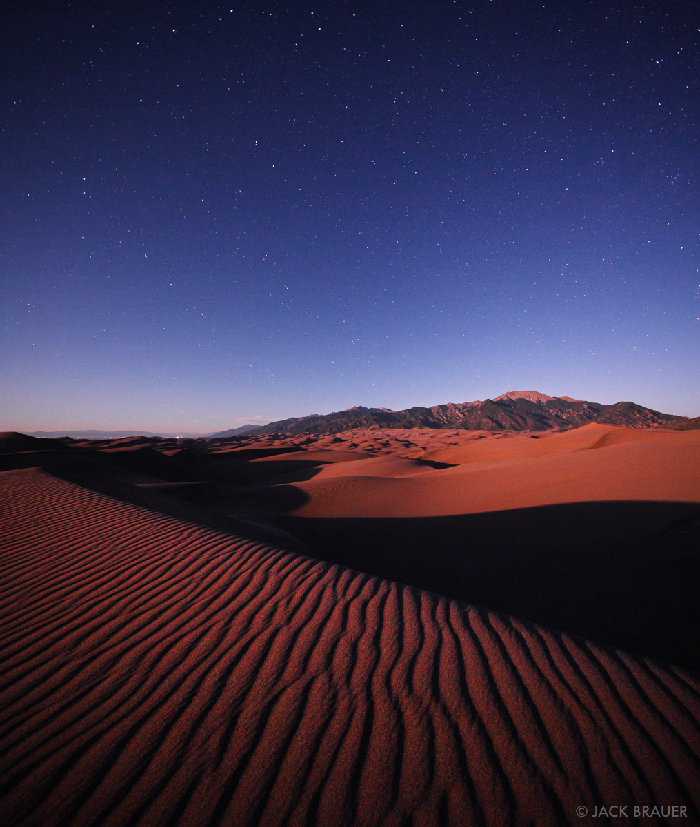 Great Sand Dunes, Colorado, moonshine, photo