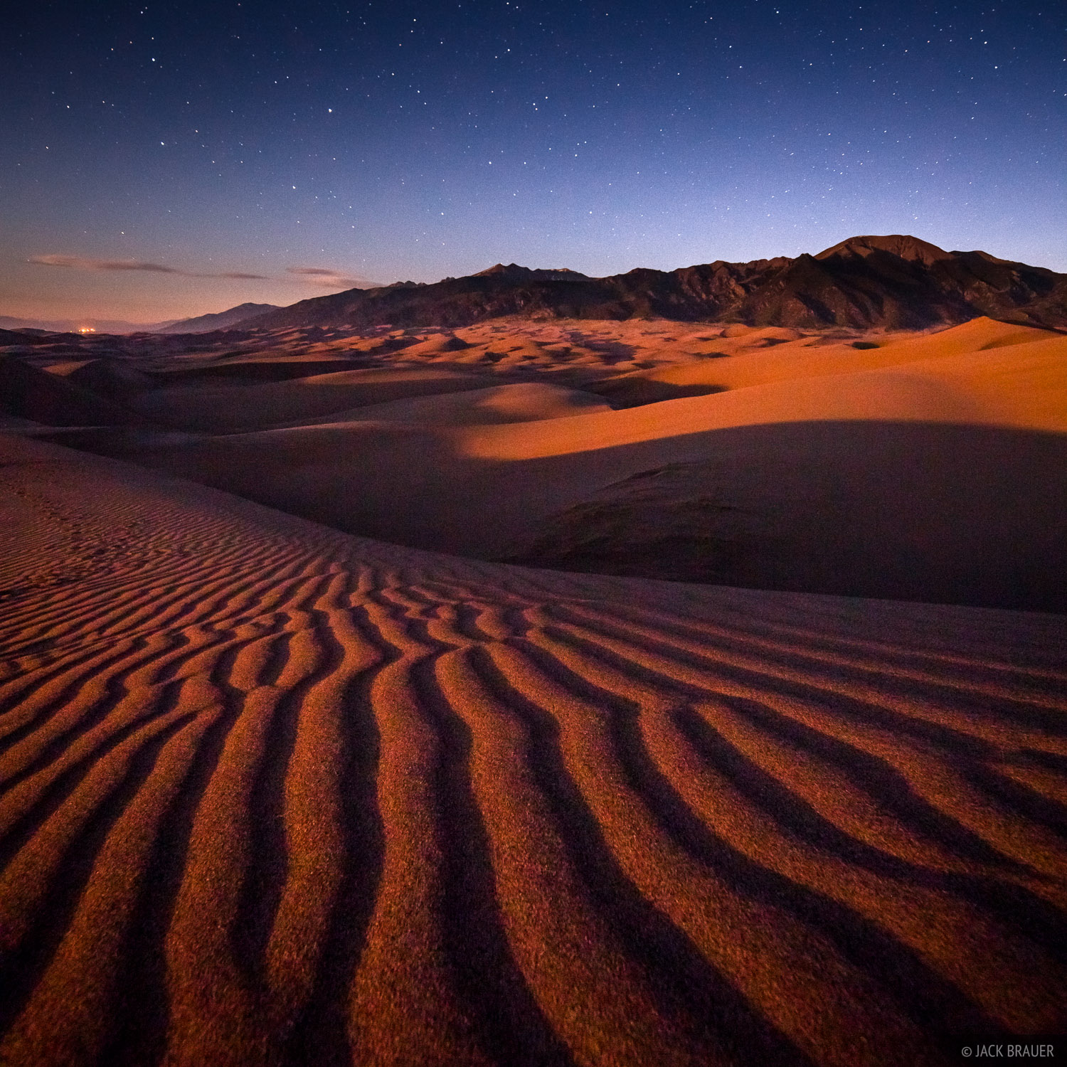 Great Sand Dunes, Colorado, moonshine, photo