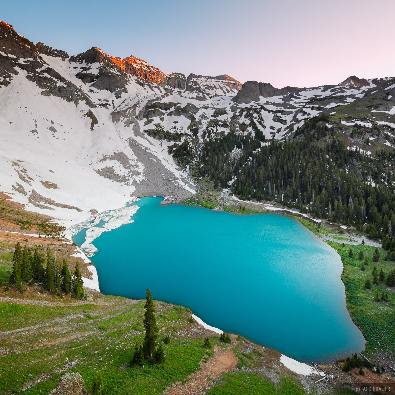 Blue Lake, Sneffels Range, San Juan Mountains, Colorado, photo