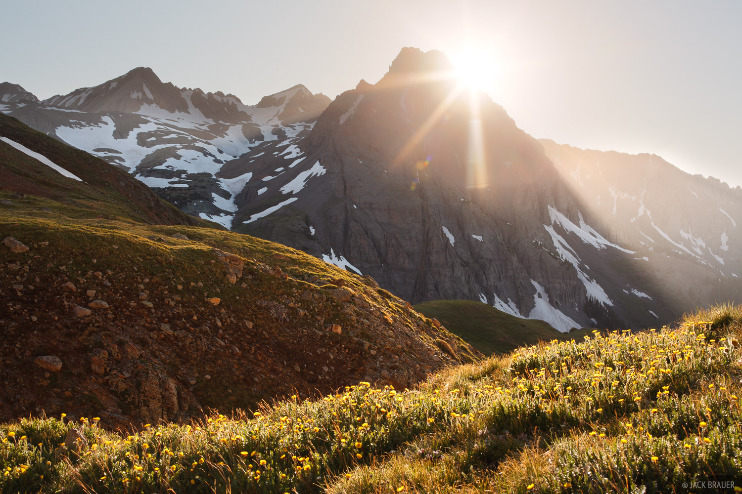 Sneffels Range, San Juan Mountains, Colorado, sunset, tundra, photo
