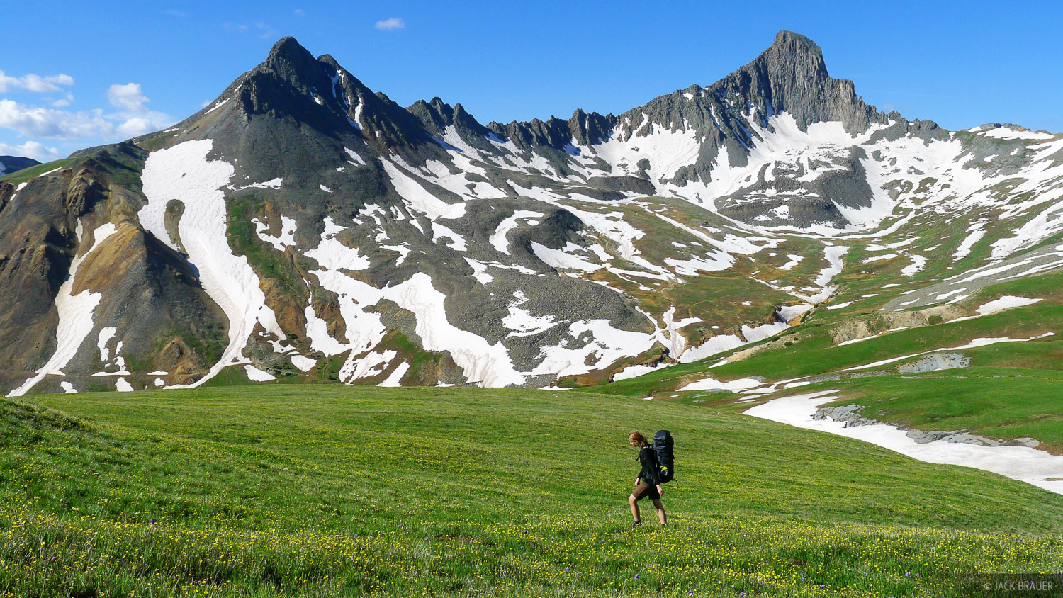 Wetterhorn Peak, hiking, tundra, Uncompahgre Wilderness, Colorado, photo