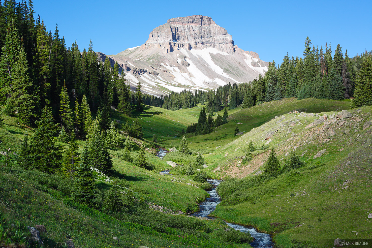 Uncompahgre Peak, Big Blue Creek, San Juan Mountains, Colorado, photo
