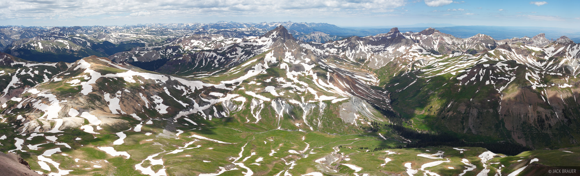 Uncompahgre Peak, summit, panorama, San Juan Mountains, Colorado, Wetterhorn Peak, photo