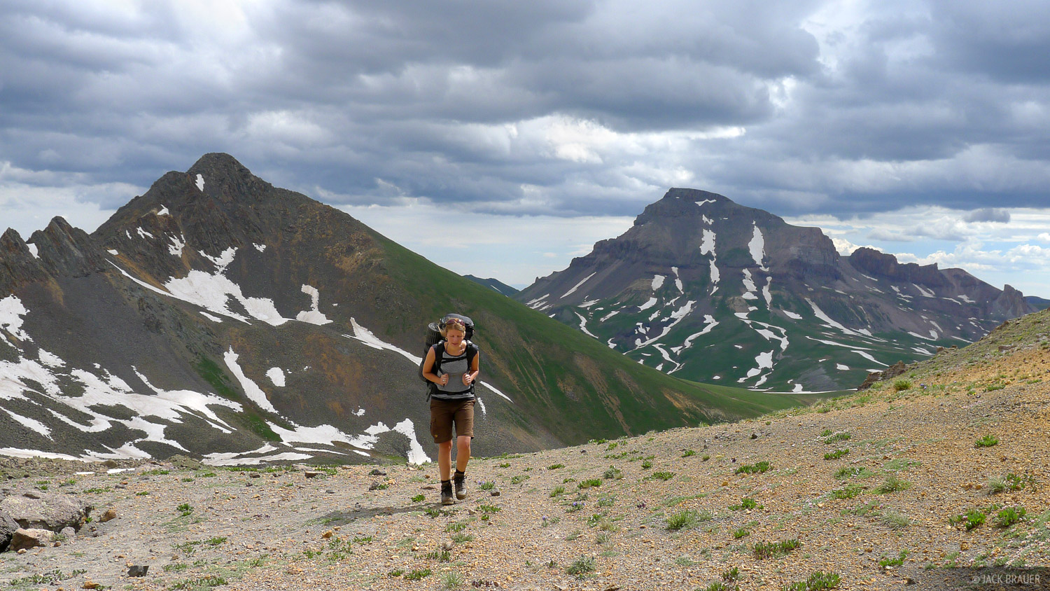 hiking, Uncompahgre Peak, San Juan Mountains, Colorado, photo