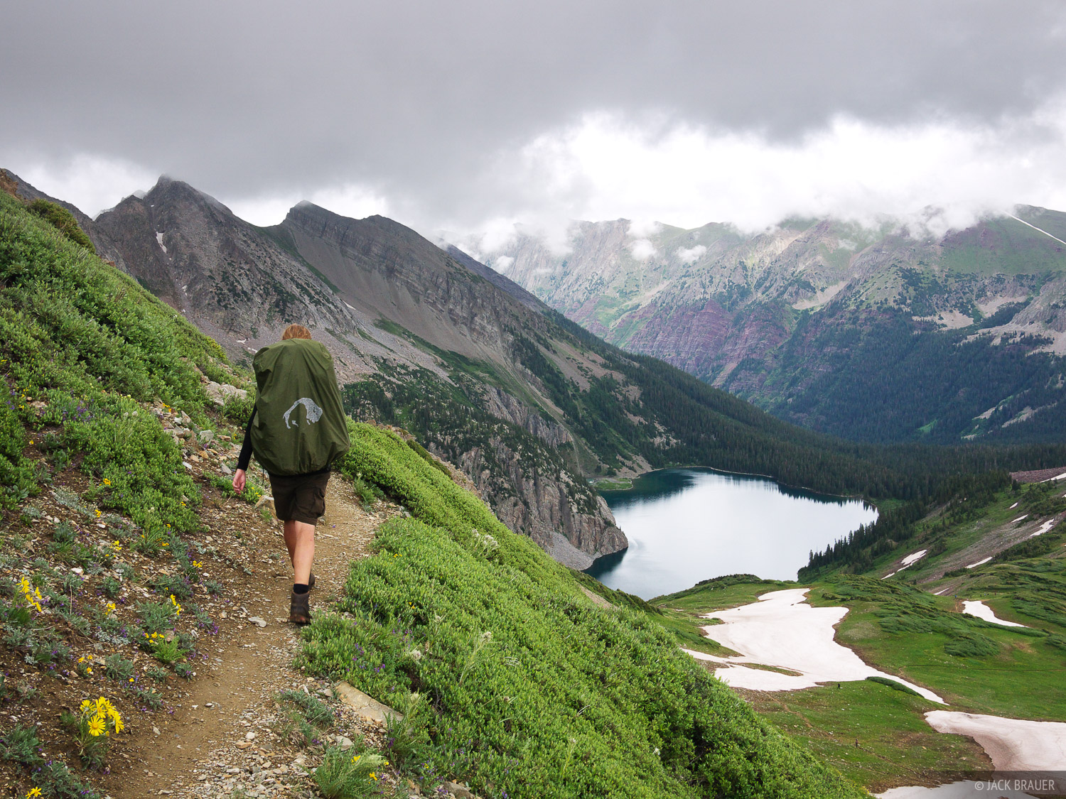Snowmass Lake, Trail Rider Pass, Elk Mountains, Colorado, hiking, Maroon Bells-Snowmass Wilderness, photo