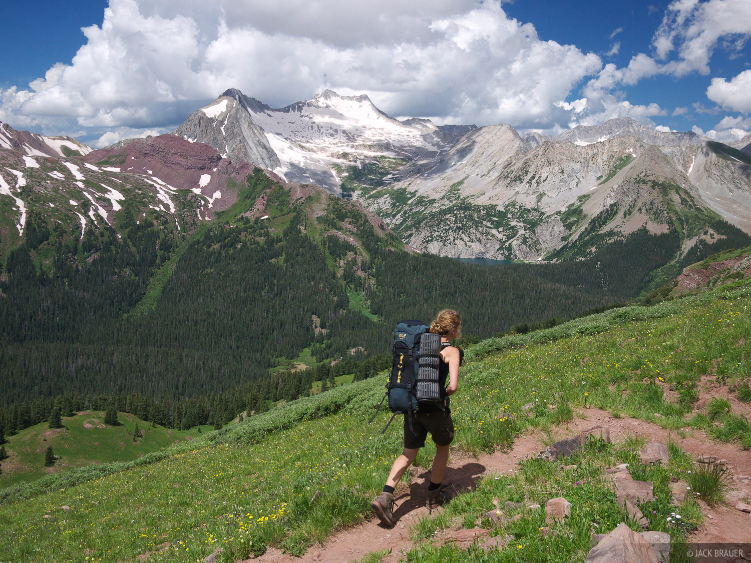 Buckskin Pass, Snowmass Mountain, hiking, Elk Mountains, Colorado, Maroon Bells-Snowmass Wilderness, photo