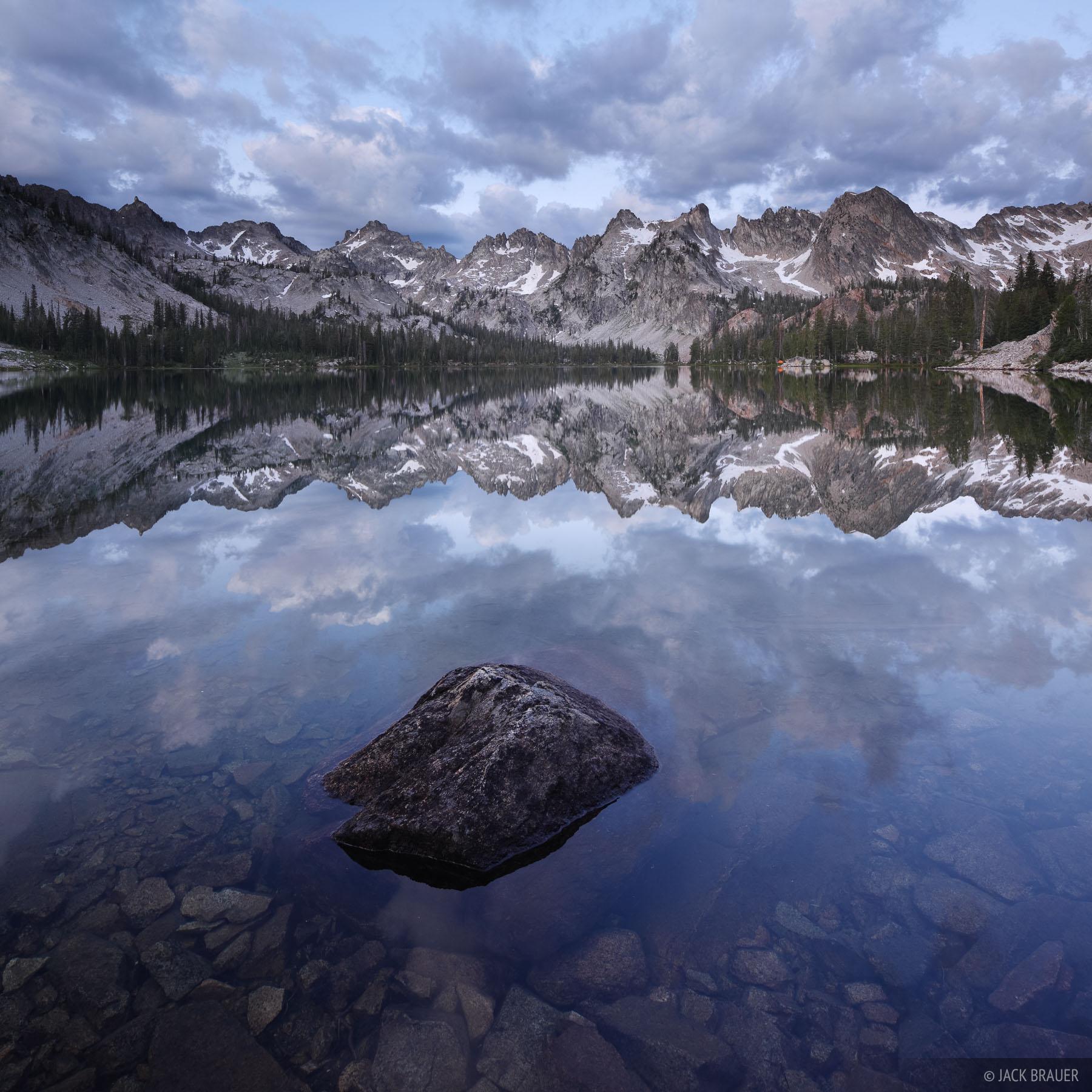 Alice Lake, Sawtooth Mountains, Idaho, reflection, photo