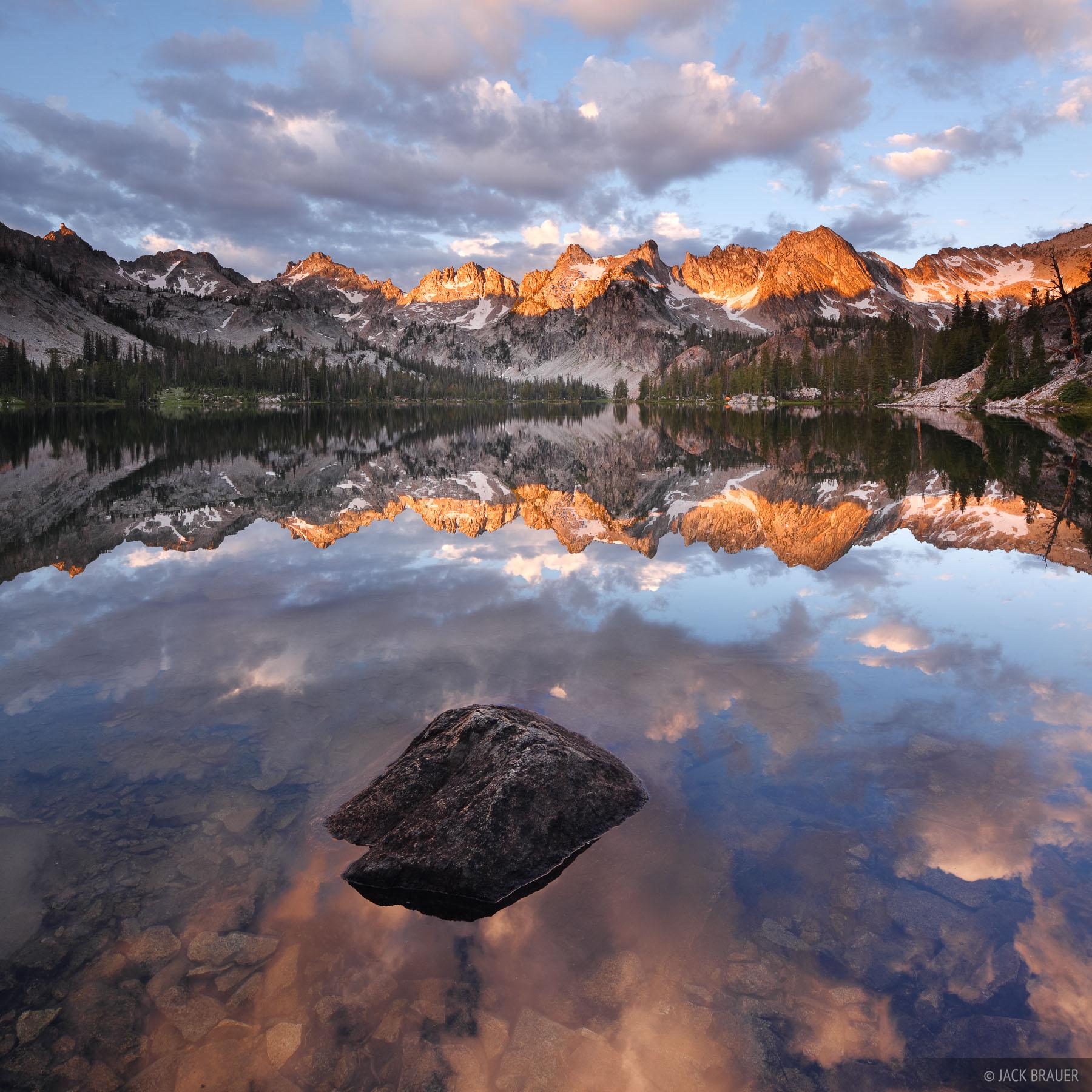 Idaho,Sawtooths, Alice Lake, sunrise, reflection, photo