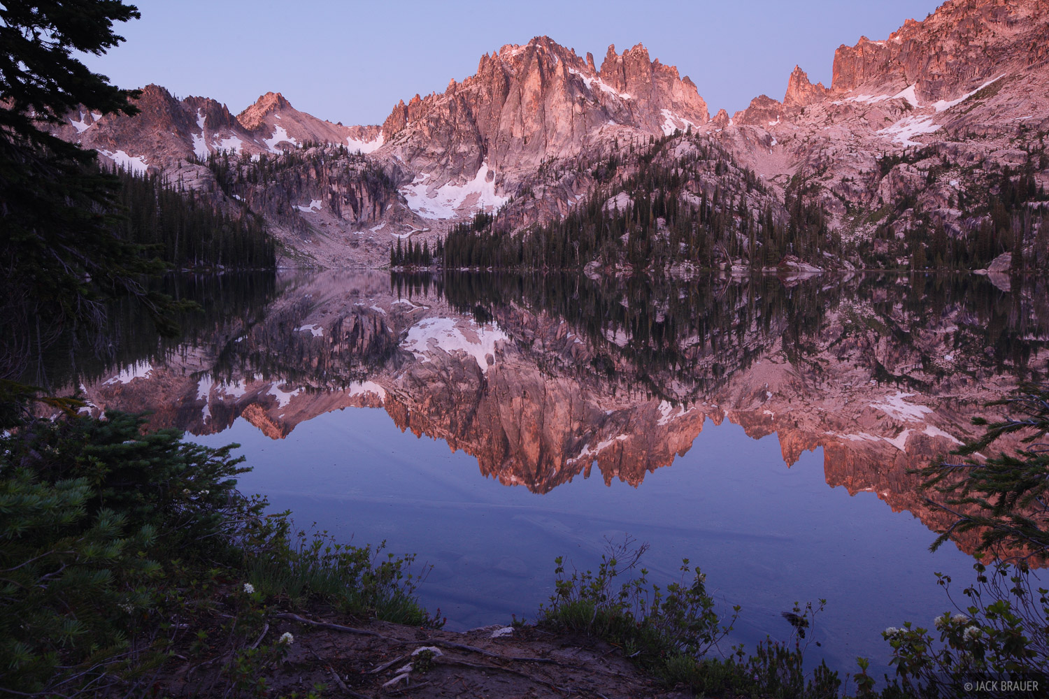 Monte Verita, Baron Lake, Sawtooth Mountains, Idaho, photo