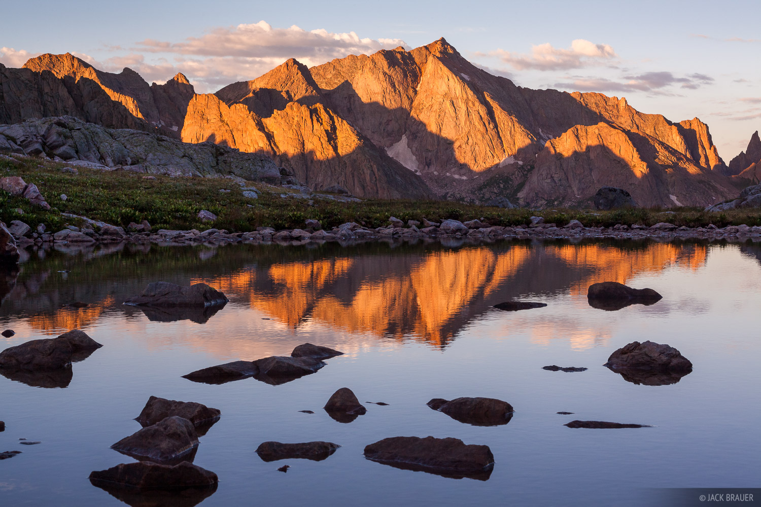Mt. Eolus, reflection, San Juan Mountains, Colorado, sunrise, photo