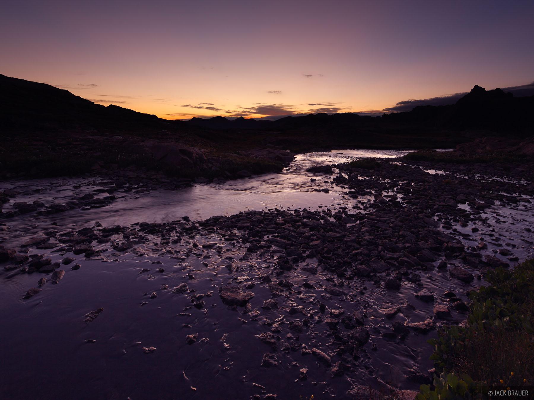 Weminuche Wilderness, San Juan Mountains, Colorado, dawn, photo
