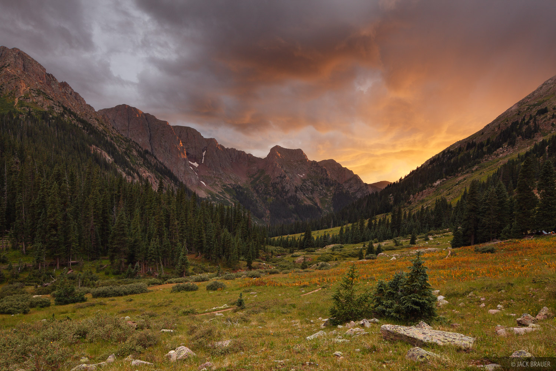 Chicago Basin, San Juan Mountains, Colorado, sunset, photo