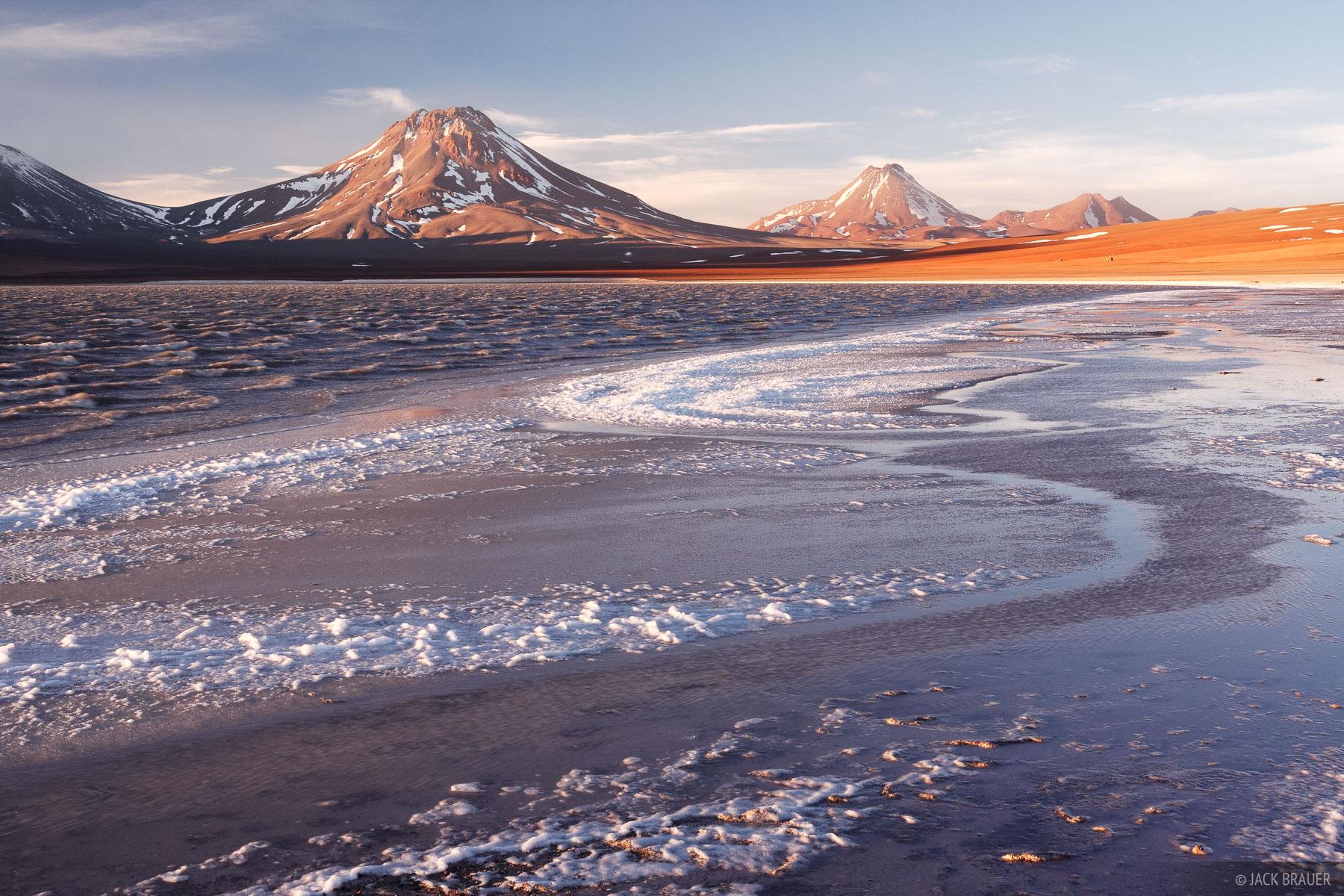 Laguna Lejia, Chile, sunset, Volcán Simba, Cerro Acamarachi, photo