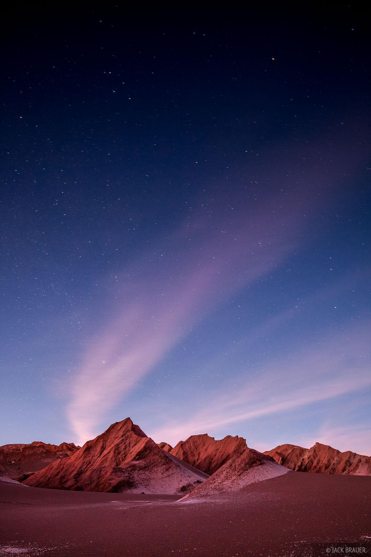 Valle de la Muerte, San Pedro de Atacama, Chile, moonlight, photo
