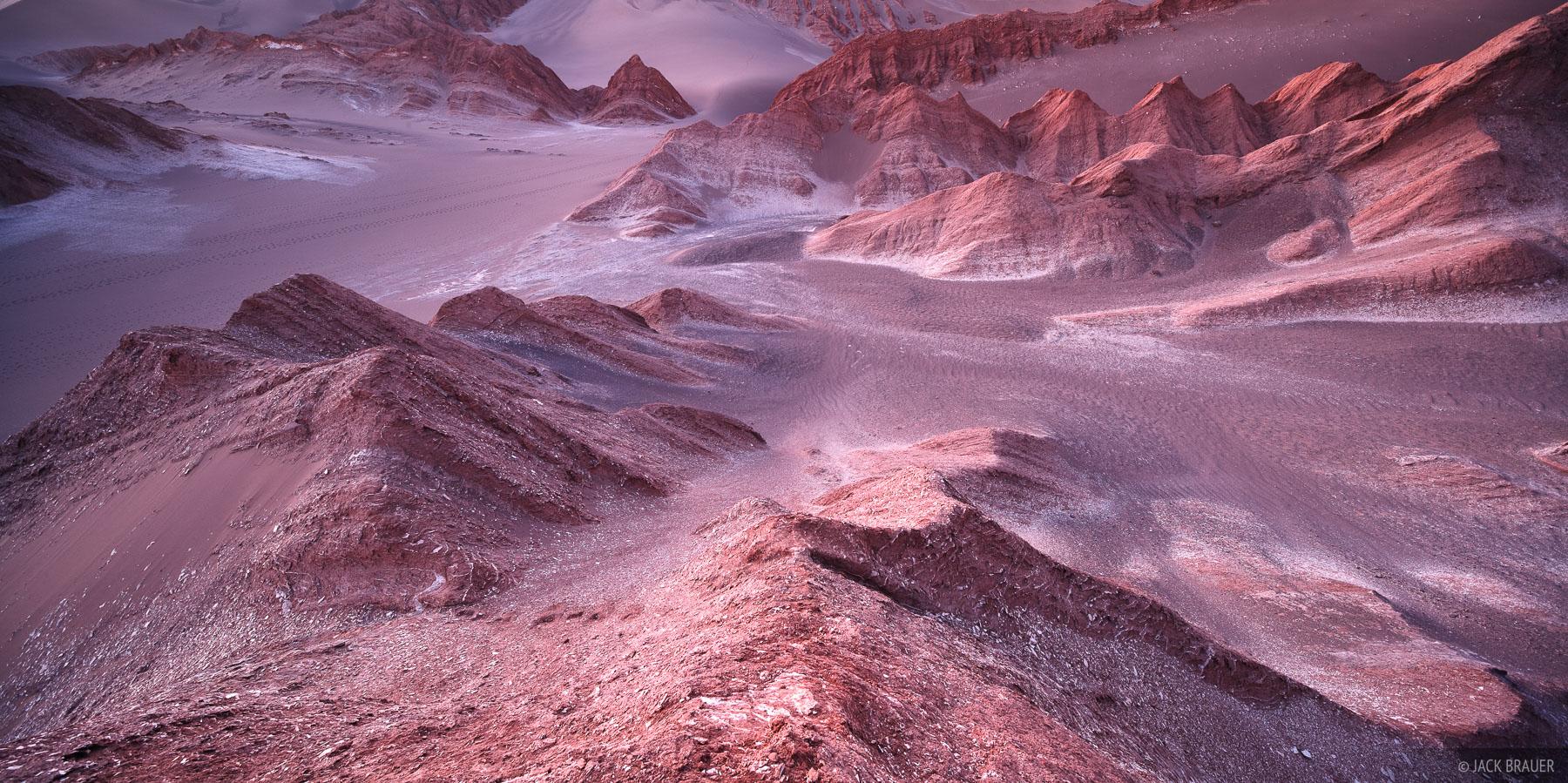 Surreal landscape of Valle de la Muerte near San Pedro de Atacama.