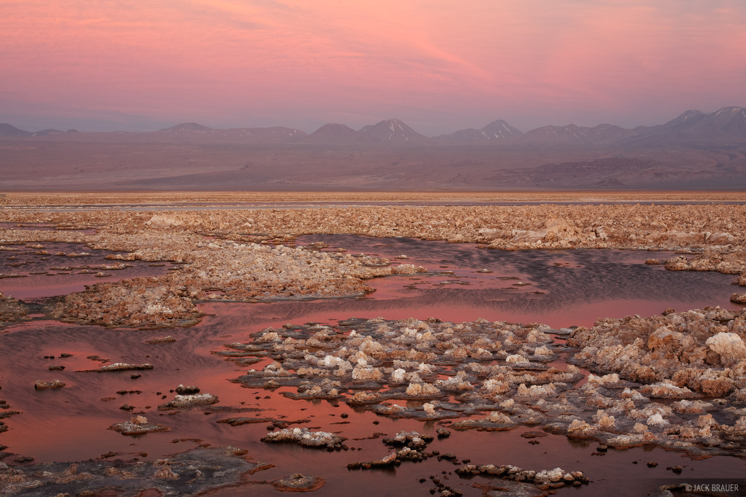 Laguna Chaxa, Salar de Atacama, San Pedro de Atacama, Chile, sunset, photo