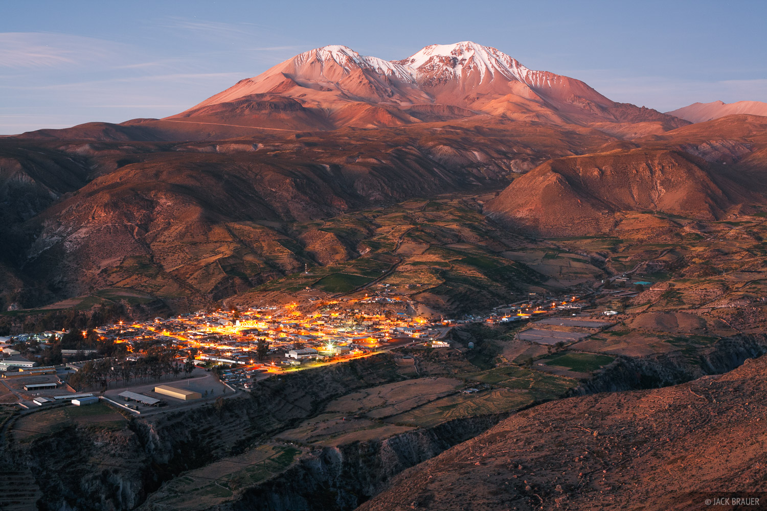 The town of Putre sits at the foot of Cerro de Tarapacá (5775m / 18,947ft) - October.