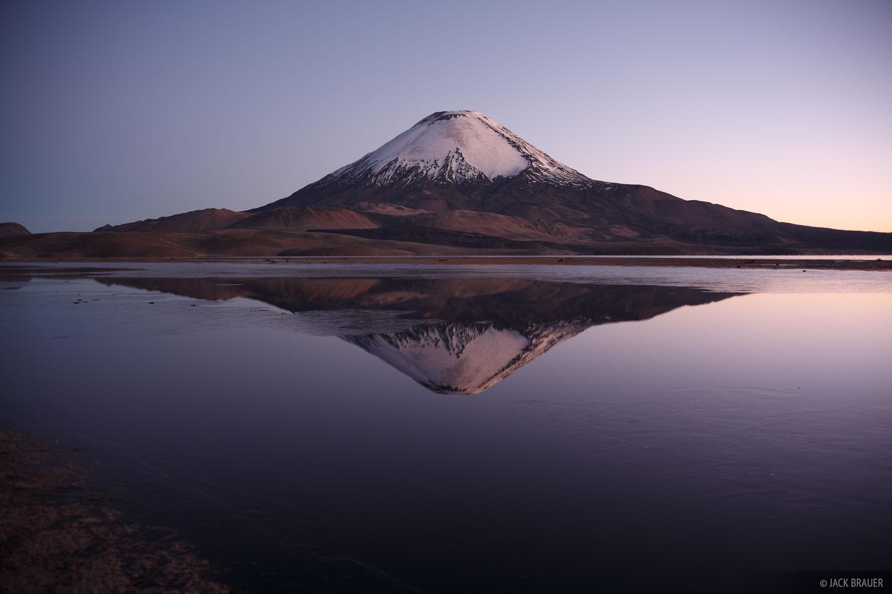 Parinacota, Lauca, Chungara, Chile, volcano, photo