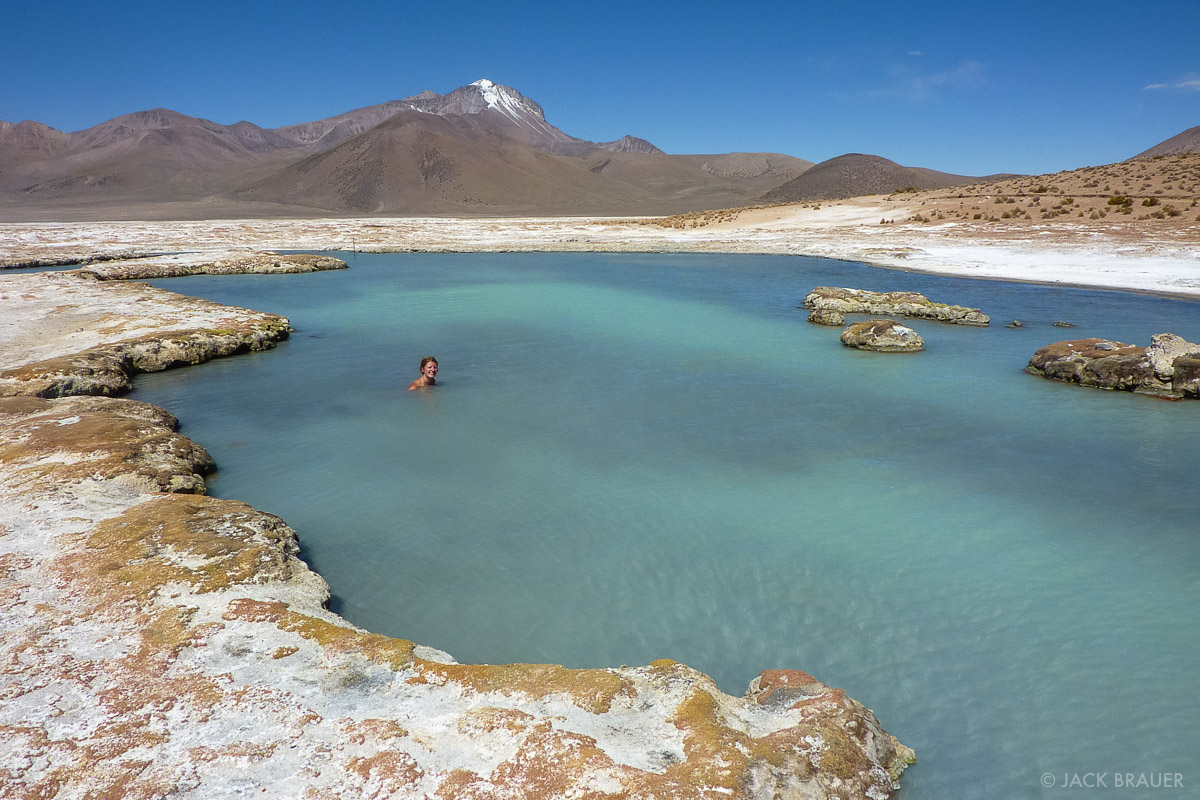 Salar de Surire, hot springs, Polloquere, Chile, photo