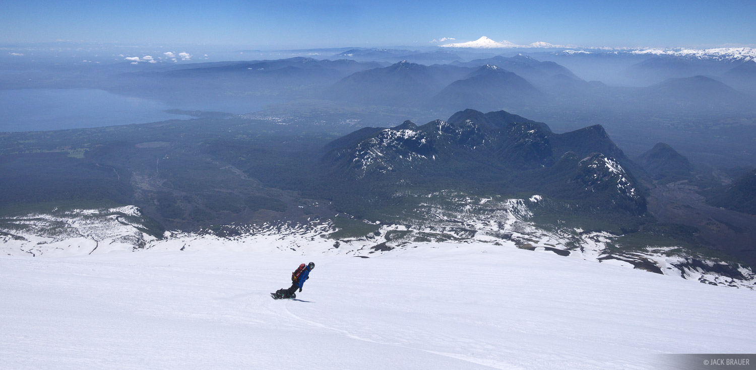 Chile, Pucón, South America, Volcán Villarica, snowboarding, photo