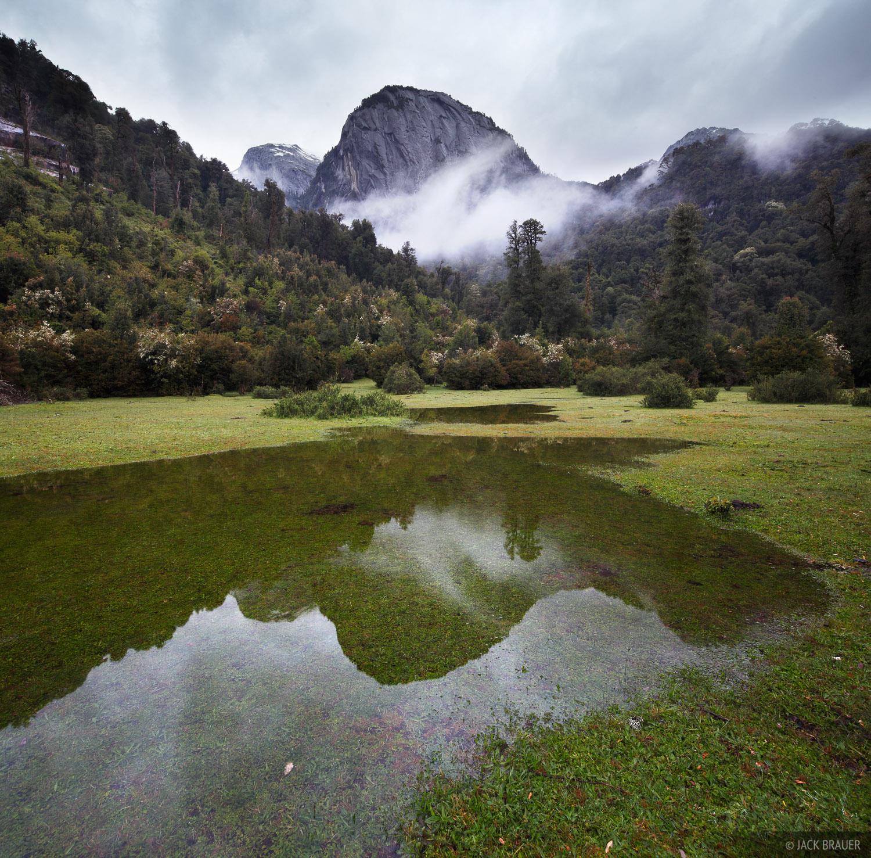 Chile, Cochamó, Cochamo, South America, reflection, Cerro La Junta, photo