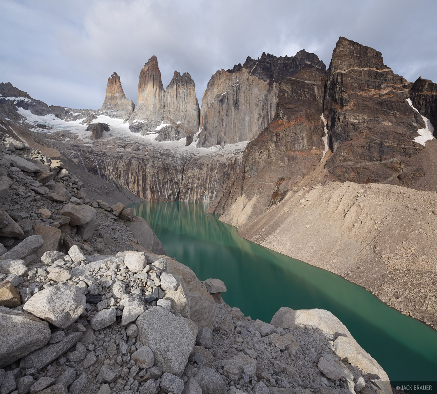 Chile, South America, Torres del Paine, Las Torres, Torre Sur De Agostini, Patagonia, photo