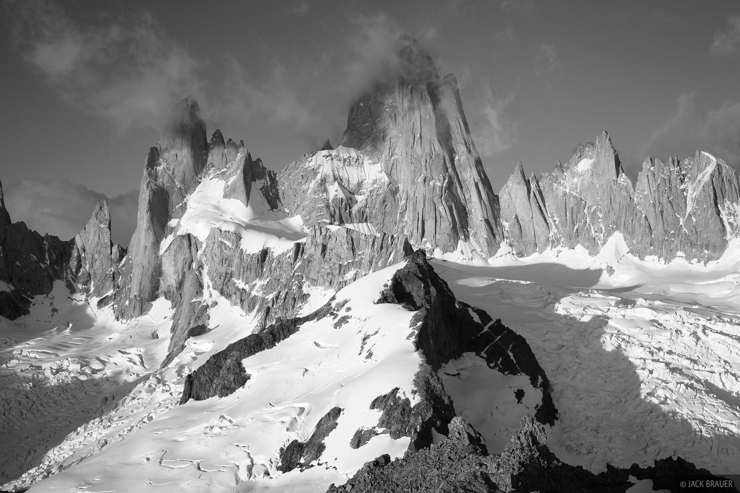 Argentina, El Chalten, Fitz Roy, South America, bw, Patagonia, black & white, photo