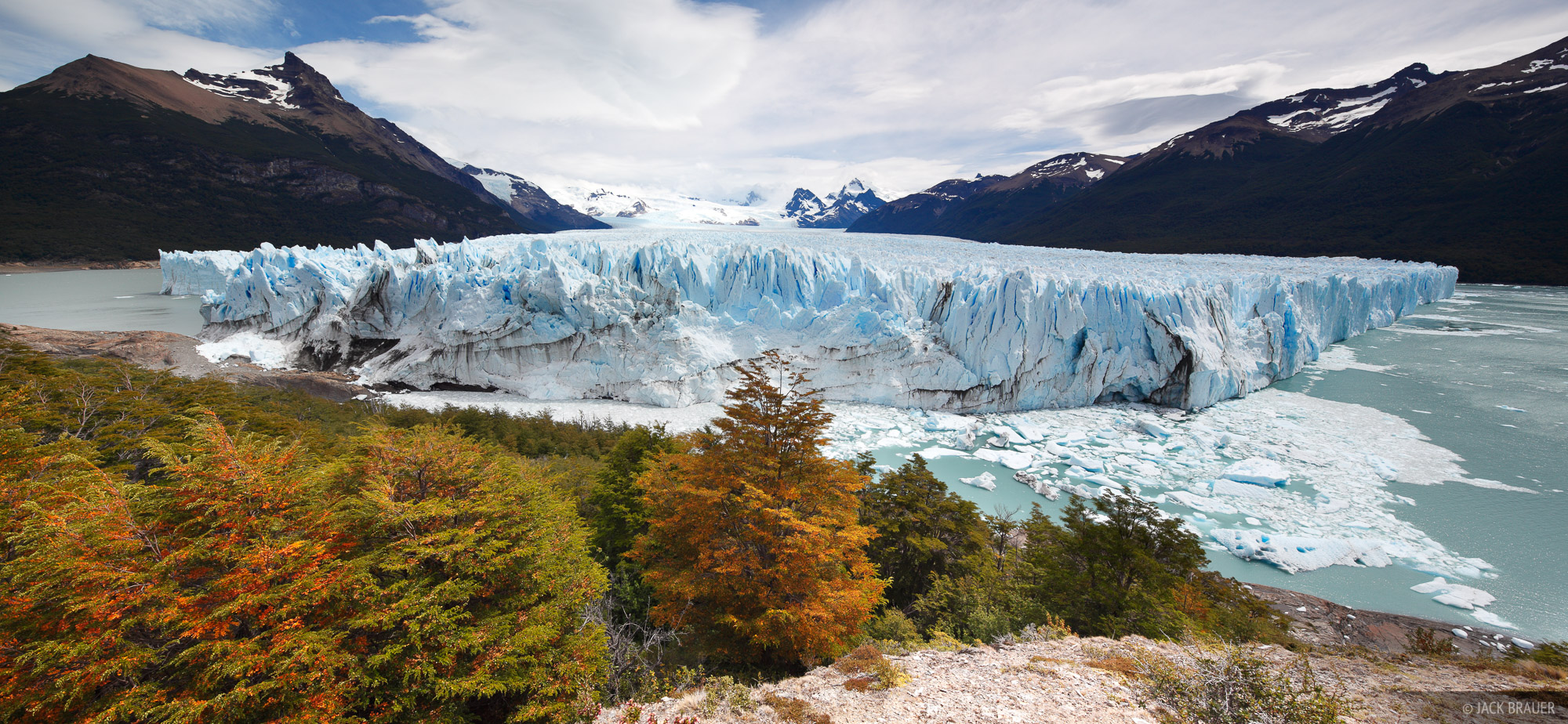 The Perito Moreno Glacier near El Calafate is one of about seven or eight glaciers that flow out from the Southern Patagonian...