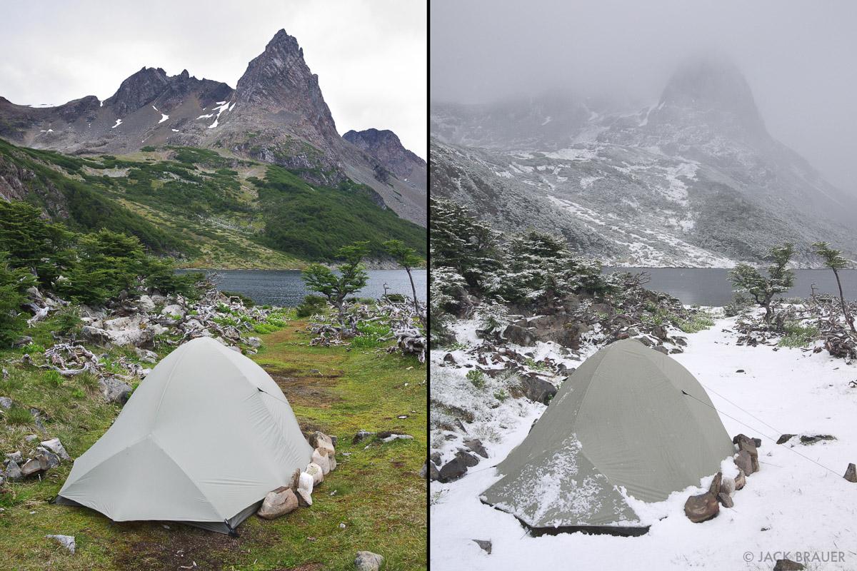Chile, Isla Navarino, South America, Tierra del Fuego, tent, photo