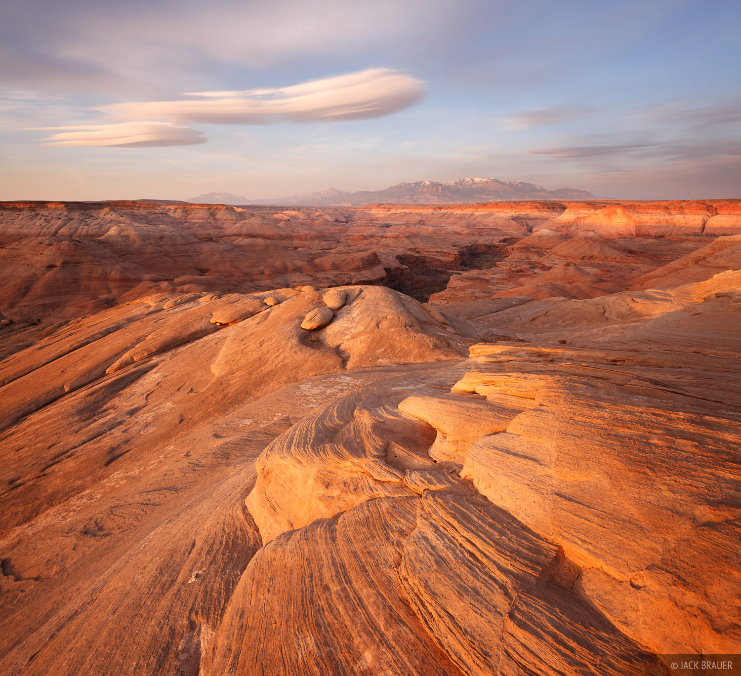 Robbers Roost Canyon, Henry Mountains, Utah, sunrise, photo