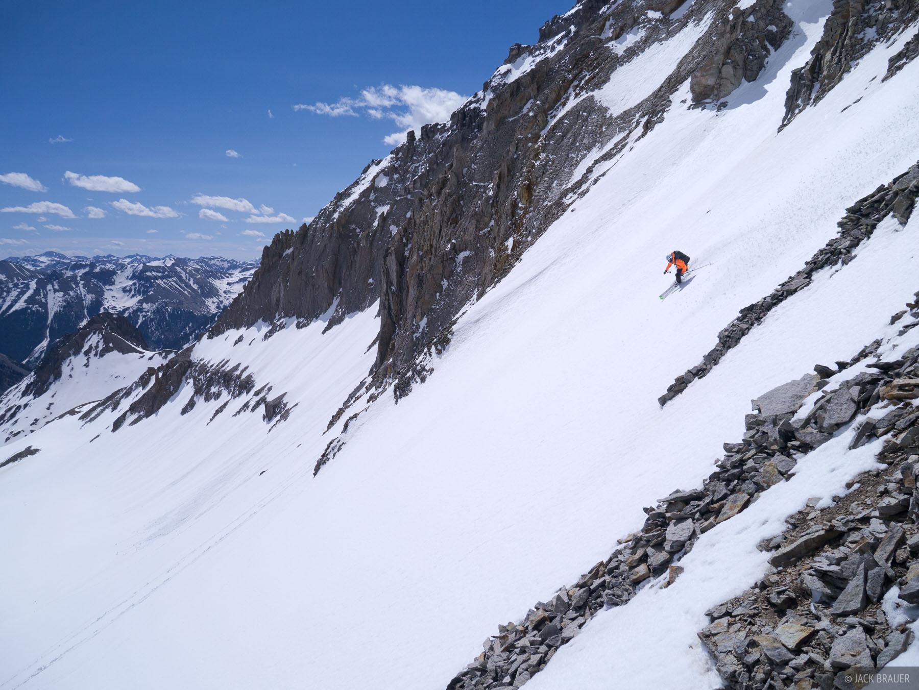 Colorado,Gilpin Peak,San Juan Mountains,Sneffels Range, skiing, Jake Evans, May, photo