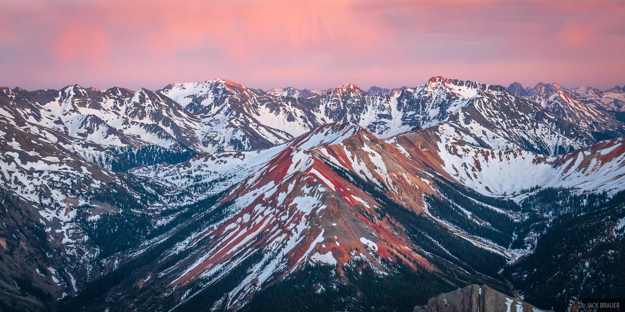 Colorado, Red Mountain, San Juan Mountains, sunset, May, photo