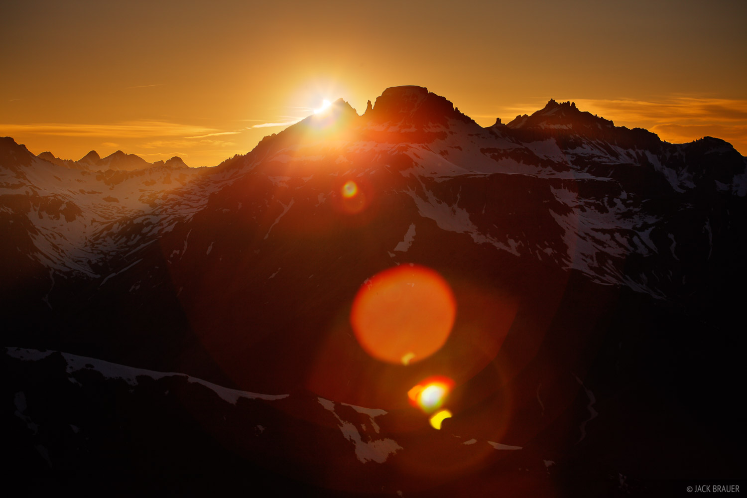 solar eclipse, Potosi Peak, Mt. Sneffels, San Juan Mountains, Colorado, sunset, photo