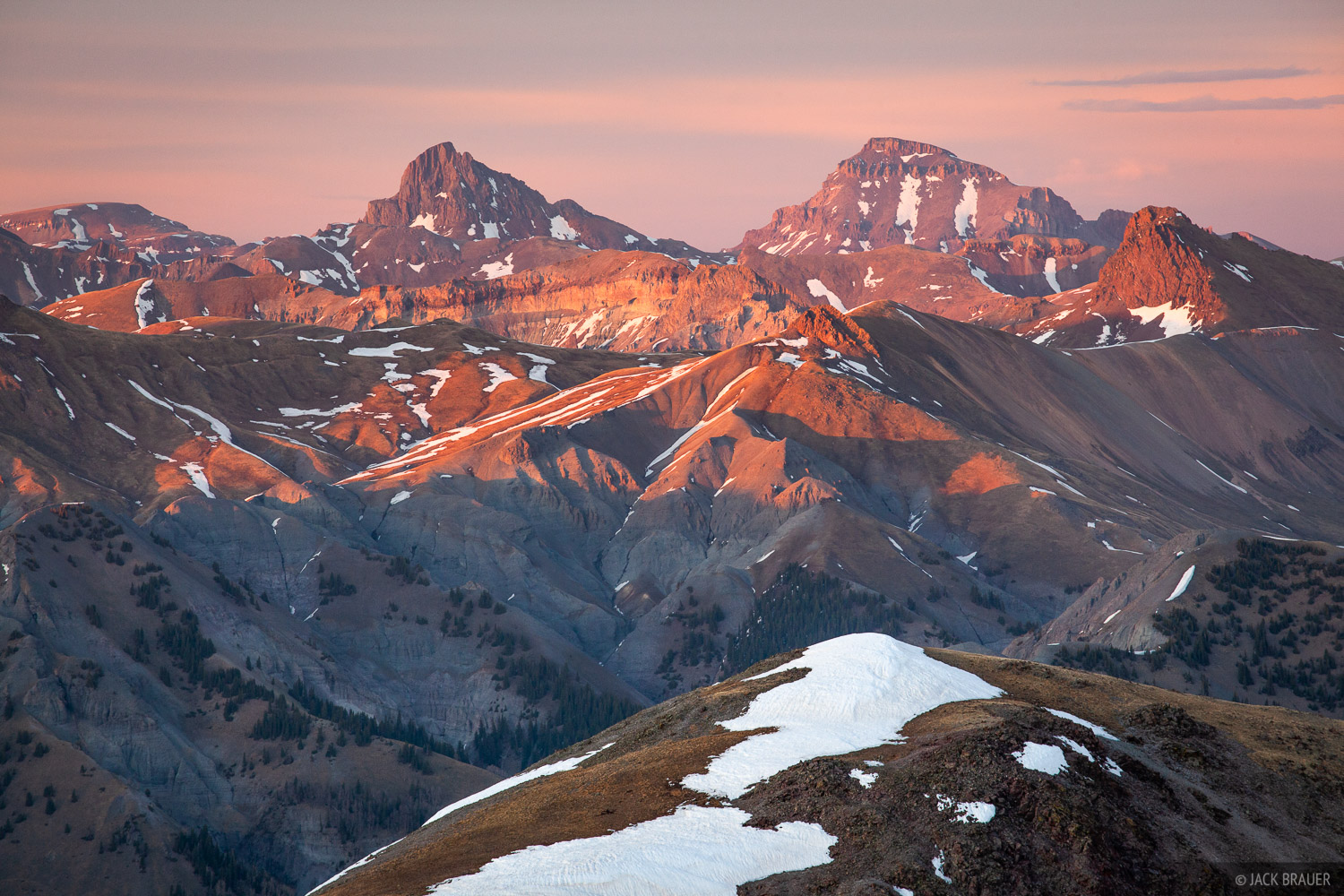 Colorado, San Juan Mountains, Uncompahgre Peak, Uncompahgre Wilderness, Wetterhorn Peak, sunset, 14ers, photo