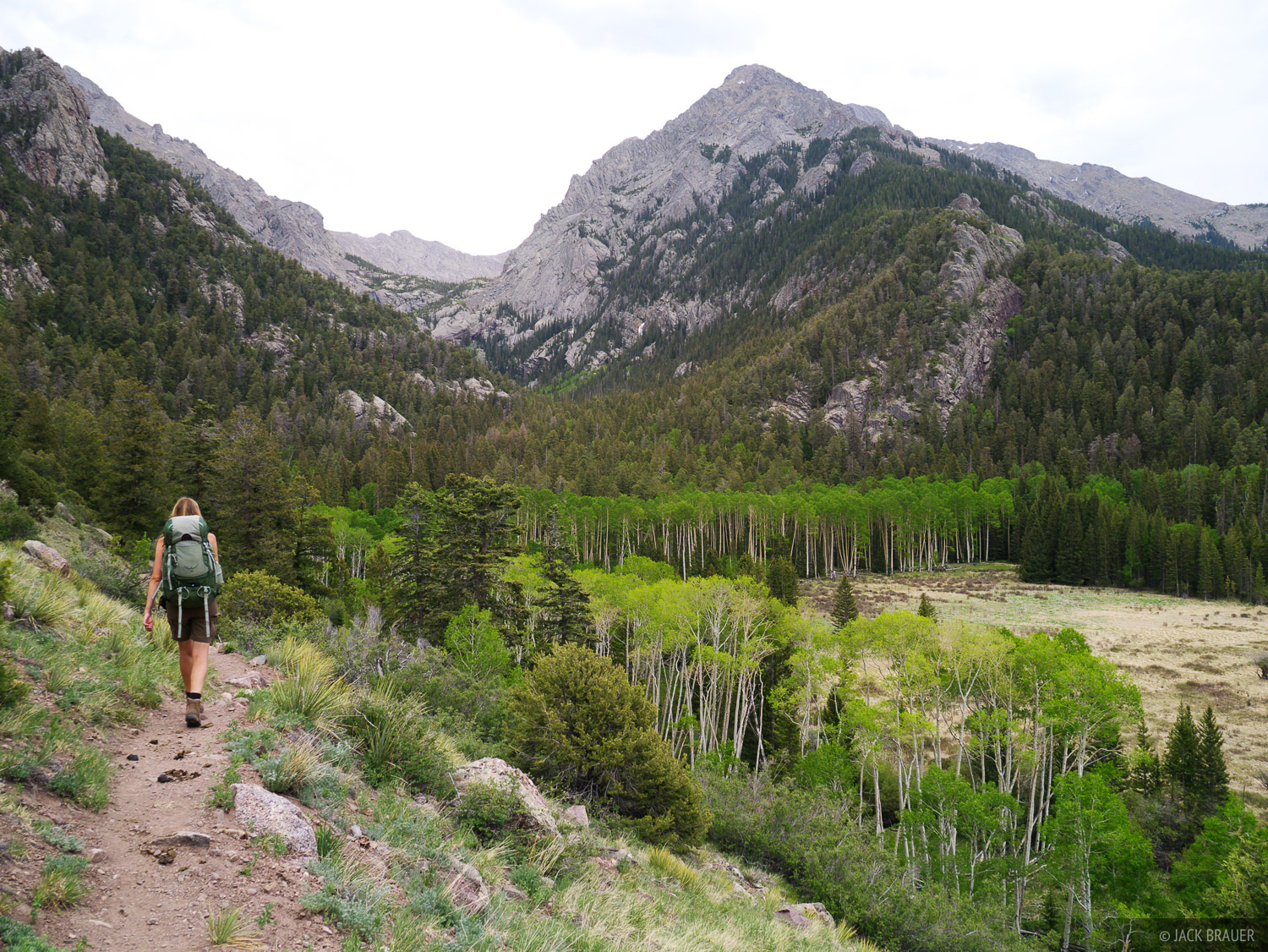 Hiking into the Sangre de Cristo Range to Willow Lake.