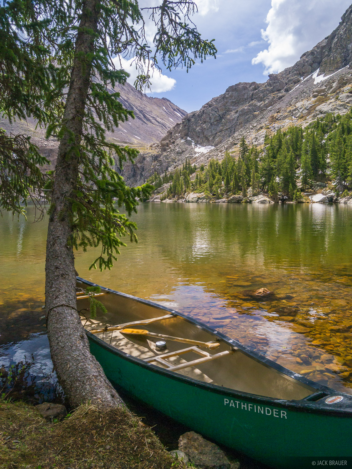 Colorado, Sangre de Cristos, Willow Lake, canoe, Sangre de Cristo Wilderness, photo