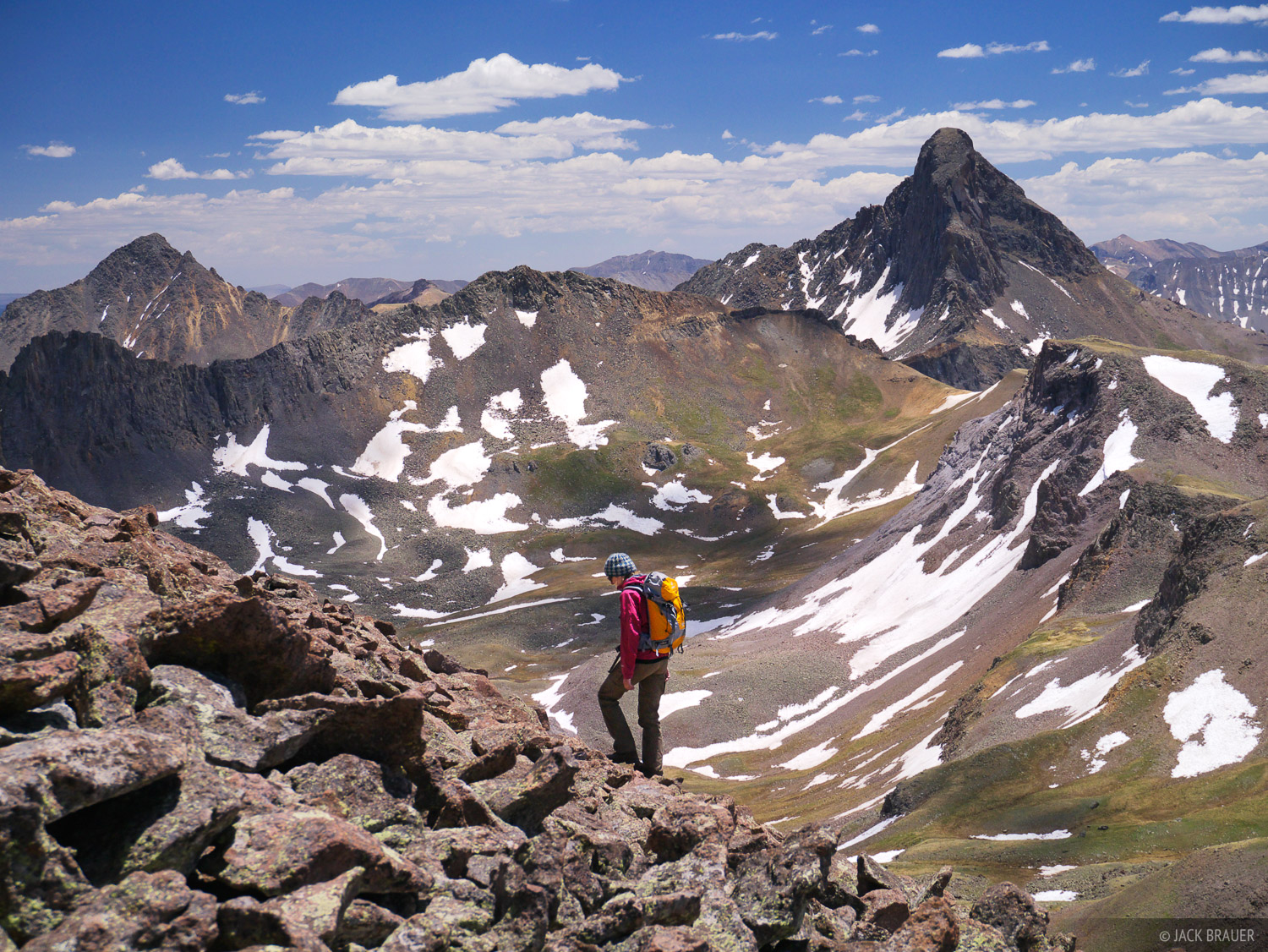 Redcliff, Wetterhorn Peak, hiking, June, Uncompahgre Wilderness, Colorado, photo